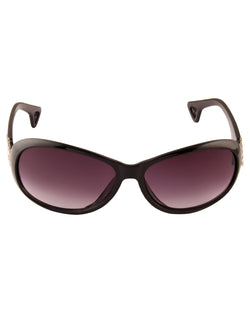 Oval Black Sunglasses For Women-AD_1228_BlackPurple