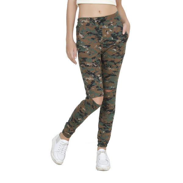 Second Half Camo Knee Cut-out Jogger-SH0017