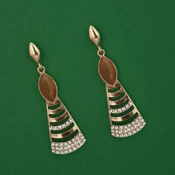 Tanishka Fashion Gold Plated Pota Stone And Austrian Stone Enamel Earrings $ 1314606F