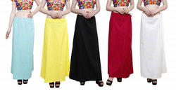 MY TRUST Cotton Multi Color Color Saree Petticoats $ PE-16