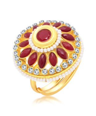 Sukkhi Ethnic Gold Plated Ring For Women