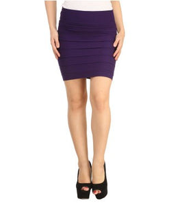 N-Gal Thick Fold Strap Mini Skirt