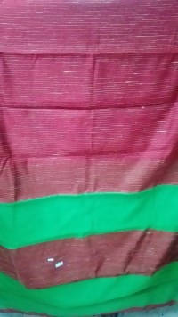 Festive Buzz Meroon & Green Cotton Handloom Sarees $ 1423