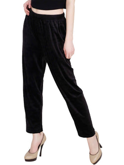 Baluchi 'PLUS SIZE' Women Winter Woollen Velvet Pyjama Bottom Pant with Fleece Inside Size- 30 to 38 $ BLC_PYJBLK_01