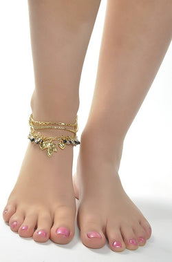 Falling Flowers Anklet - JVIUANK1753