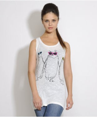 Punky Fish Off White S/L Top