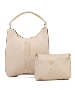 Fiona Trends Beige PU Shoulder Bag,6003_BEIGE