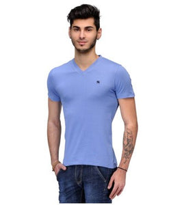 Dazzgear Men's Blue V Neck MTV-44 T-Shirt
