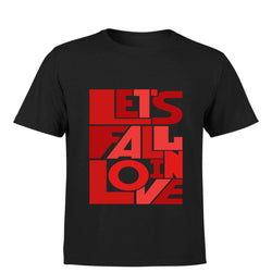 Partum Corde Premium Men's Modern Fit Round Neck T shirt LETS FAIL IN LOVE $ LETS FAIL IN LOVE3137