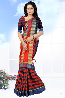 YOYO Fashion Latest Fancy Ora Dhupian  Red  Saree $SARI_2580 Red