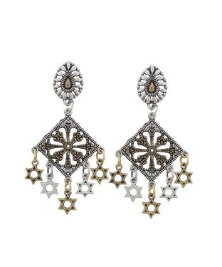 Aradhya Metal Chandbali Earring, Drop Earring, Dangle Earring