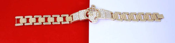 Gold Plated American Diamond Shree Women's Bracelate for Men $ AC0020