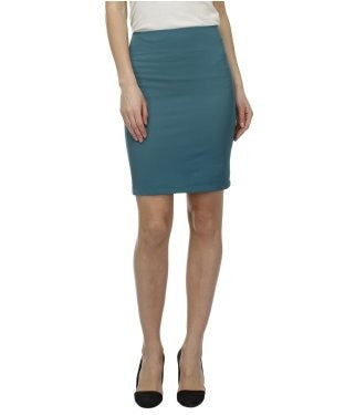 Glam a gal teal green kneelength skirt