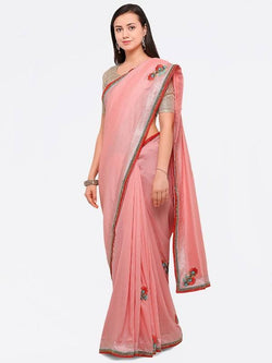Umang NX Red Art Silk Designer Embroidery Sarees $ UN5691