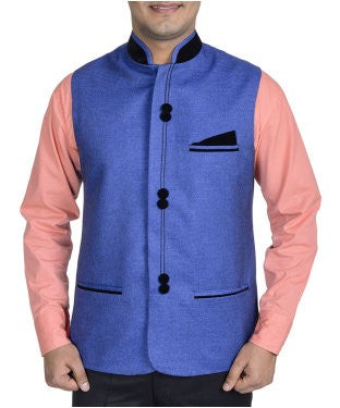 Harvest Blue Waist Coat