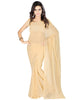 Muta Fashions Women's Unstitched Georgette Yellow Saree $ MUTA205