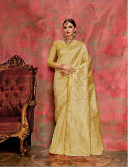Umang NX Yellow Art Silk Designer Weaving Sarees $ UN4734