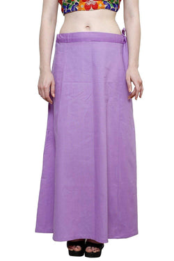 MY TRUST Cotton Lavender Color Saree Petticoats $ PT-32