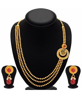 Sukkhi Lavish Pecock Gold Plated Necklace Set For Women