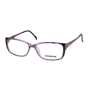 David Blake Printed Purple Rectangular Full Rim EyeFrame