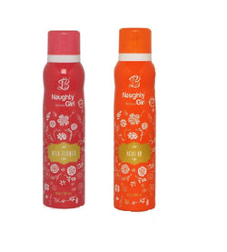 Naughty Girl WILD FLOWER PASSION Deodorant for Women- (Set of 2) (150ml each)
