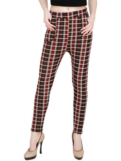 Baluchi Check Plaid Print Jeggings $ BLC_JEG_24