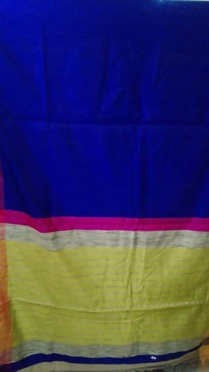Festive Buzz Blue Cotton Handloom Sarees $ 1405