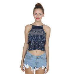 Second Half Layered Crop Top-SH0003
