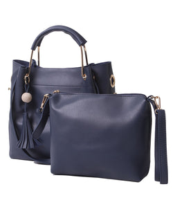 Fiona Trends Blue PU Shoulder Bag,611_BLUE