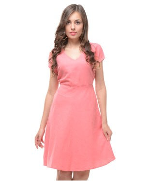 UNITED COLORS OF BENETTON Candy Pink SHORT DRESS