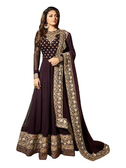 YOYO Fashion  Latest Fancy Semi-stitched Faux Georgette Embroidered Anarkali Salwar Suit $F1249
