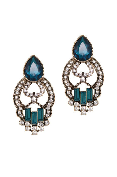 Pendulum Blue Earrings - JIAFEAR5983