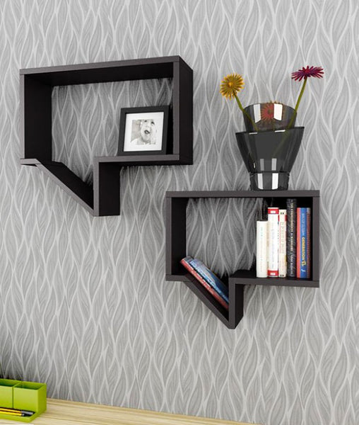 THE NEW LOOK Wall Shelves(Set of 2)-100000717230