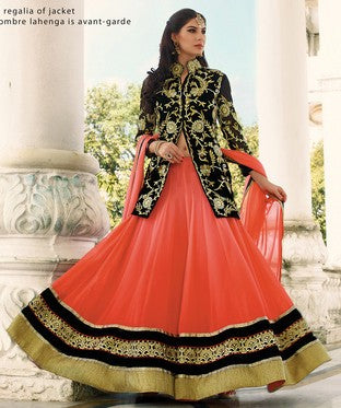 Georgette Lehenga and Choli Set