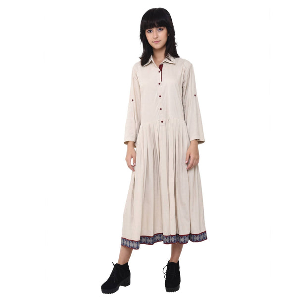 Vritta Women's Pleated Shirt Dress $ VR0035