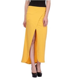 Glam a gal yellow long skirt
