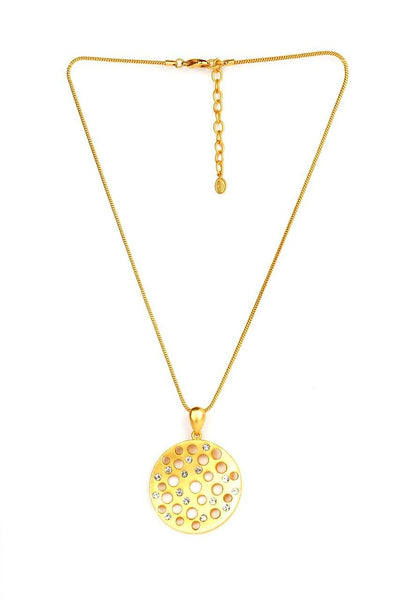 Golden Sieve Necklace - JNFHNEC0919