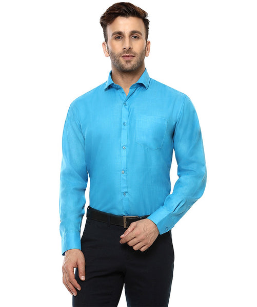Lee Marc Full Sleeve Lm Coral Formal Shirt