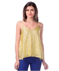 Miss Chase Gold S/L Top