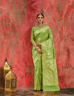 Umang NX Green Art Silk Designer Weaving Sarees $ UN4731