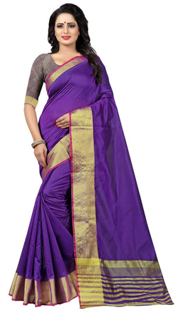 YOYO Fashion Latest Fancy Kota Dhupian Purple Saree $SARI2581 Purple