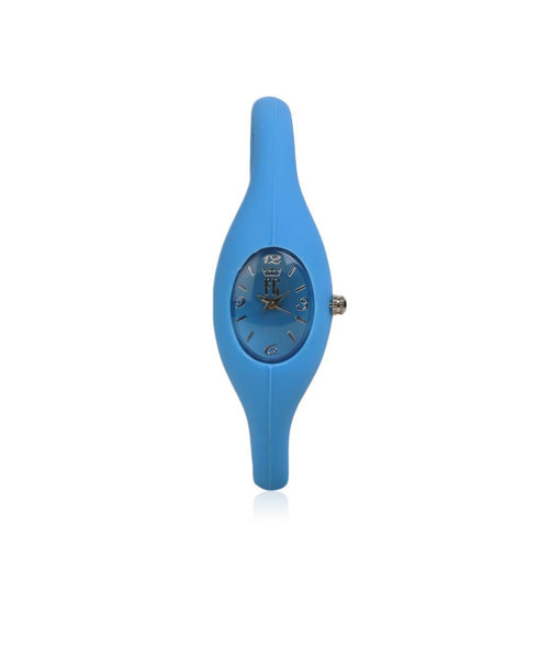FASHION GARAGE BLUE SILICONE UNISEX CASUALWATCH $ 100000090691