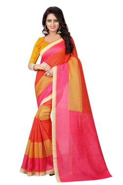16TO60TRENDZ Multi Color Printed Bhagalpuri Silk Saree $ SVT00500
