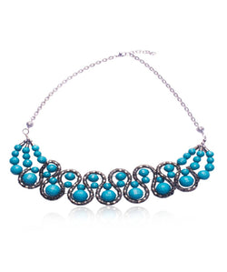 BAUBLE BURST Gobstopper Blue Necklace