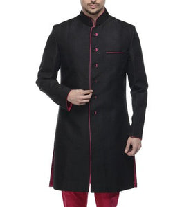Silk Sherwani with Churidar