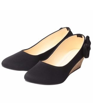 Msc Women Black Wedges