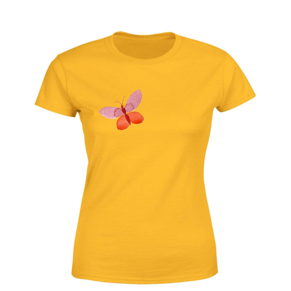 Partum Corde Premium Women's Modern Fit Round Neck T shirt LONELY BUTTERFLY $ LONELY BUTTERFLY2537