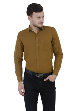 Baluchi Solid Regular Full Sleeve Linnen Beige Formal Shirt $ BLC_MNSHIRT_10