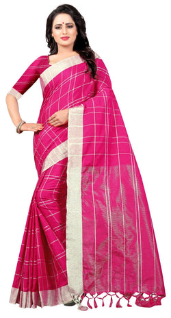 YOYO Fashion Latest Fancy Linan Cottan Pink  Saree $ SARI2584 Pink