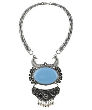 aradhya Silver Plated Acrylic Necklace
